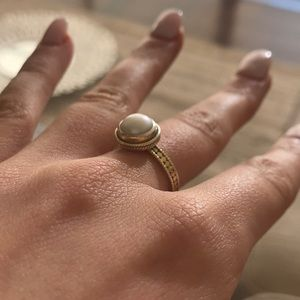 Anna Beck Solitaire Pearl & Gold Ring SOLD OUT